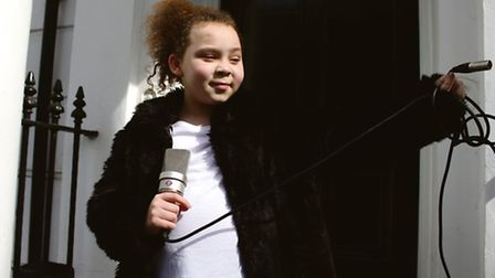 Shanny, aged nine, has been rapping for less than two years. Picture: Derek Benson
