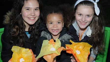 Anabelle Prin, 11; Kelis Cumberbatch, 4; and Emily Pinkney 14 got the chance to make their own beaco