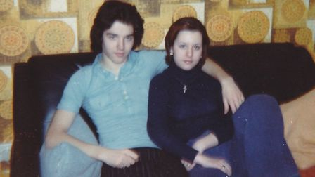 Twins John and Susan Ball bonded over Arsenal FC and classic rock music. Picture: Susan Ball