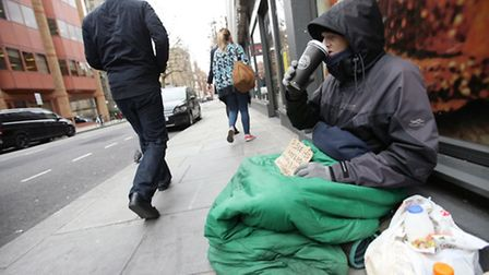 A file image of a homeless man in central London (Picture: Press Association)