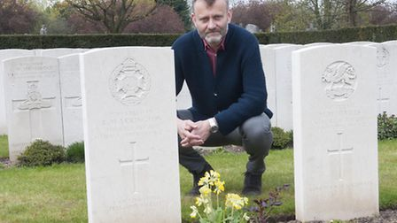 Hugh Dennis launches the war grave campaign in Islington and Camden Cemetery, East Finchley. Picture
