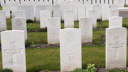 War graves in Camden and Islington Cemetery. Picture: Nigel Sutton