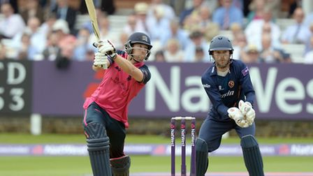 Middlesex's Dawid Malan bats against Essex in the 2015 NatWest T20 Blast