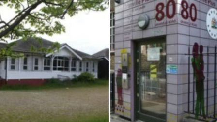Wembley, left, and Graville youth centres will close on Friday