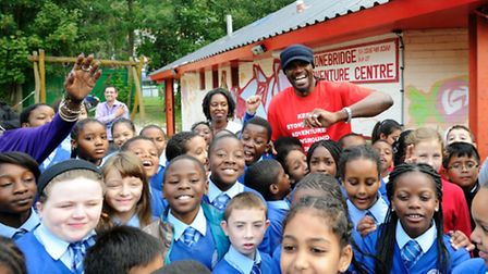 Boxer Audley Harrison is a former user of Stonebridge Adventure Playground