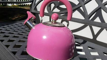 The famous 'pink kettle' Owen used in Hondarus