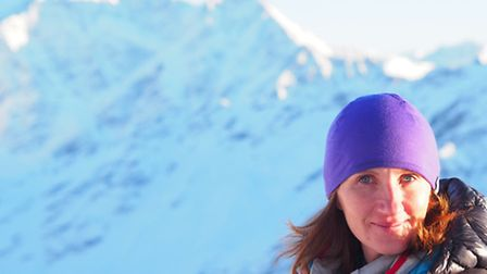 Masha in Antarctica in December, when she climbed the 16,000ft Vinson Massif. This was the second st