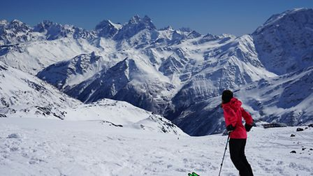 Masha in Russia, where she climbed the 18,500ft Elbrus. She completed this on March 10, and was the