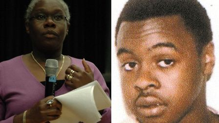 Patsy Hopwood-Clarke, left, and her son Kavian who was murdered in 2003