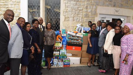 Pastor Temi Odejide and the congregation of the House on the Rock Church have collected food for the