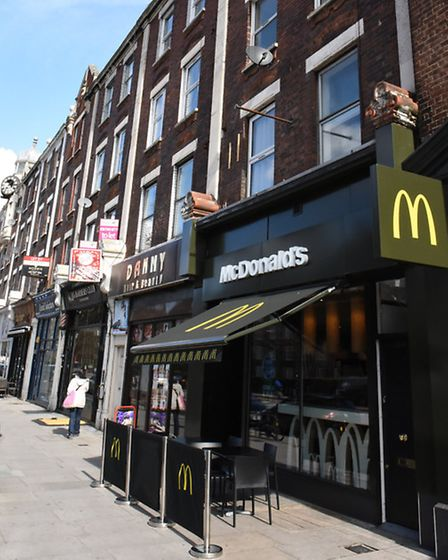 The property above McDonalds is listed as Islington's cheapest flat