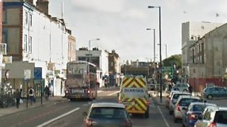The man was allegedly shot in Seven Sisters Road in Finsbury Park. Picture: Google Maps