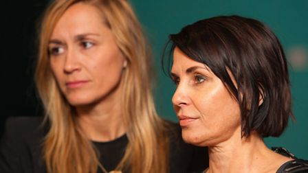 Sadie Frost (right) and Emma Comley. Picture: PA