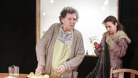 Stephanie Fayerman and Mollie Lambert in Russian Dolls at the King's Head Theatre. Picture: Andreas