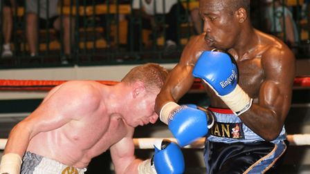 Kian Thomas (right) in action during his win over Dan Carr last year. Pic: Philip Sharkey/TGS Photo
