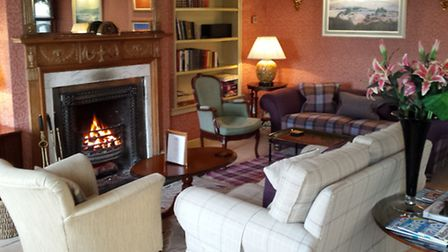 The second lounge at the Airds Hotel, Port Appin
