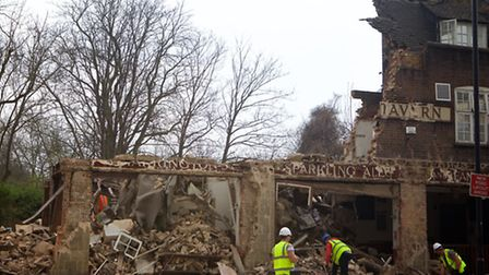 The pub was demolished with no warning a year ago
