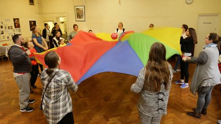Parachute games at the ADHD support centre