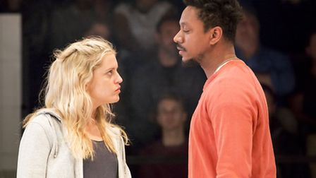 Denish Gough and Nathaniel Martello-White in People Places and Things. Picture: Johan Persson