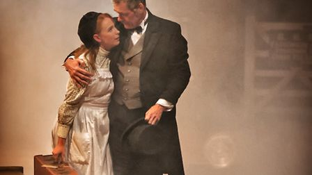 Rozzi Nicholson-Lailey and Rob Angell star in The Railway Children. Picture: Anthony Robling