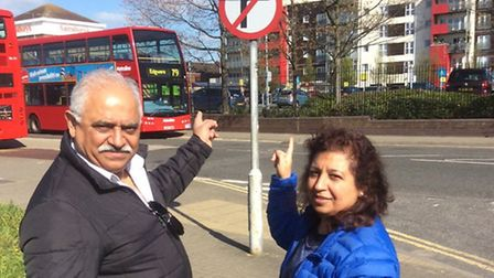 Jagjivan and Kaltana Masters in Glacier Road near Sainsbury's with the changed signage after success