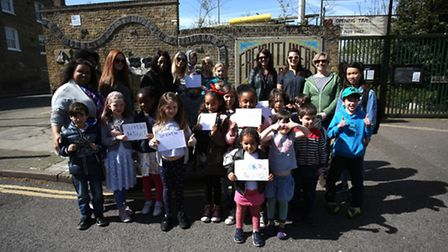Grafton Primary School went on strike at Freightliners Farm, Holloway, as part of the national campa