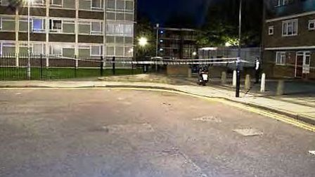 The murder scene in Hackney