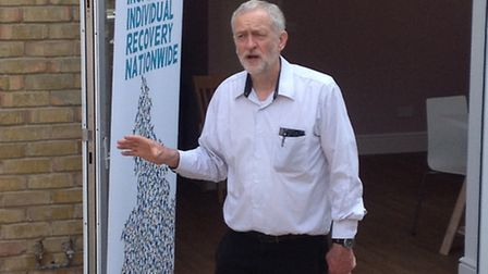 Jeremy Corbyn speaking at St George's Care Home in Holloway. Picture: James Morris