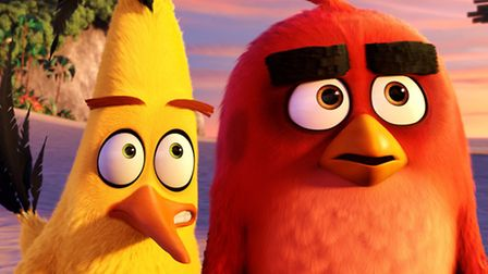 Chuck (Josh Gad) and Red (Jason Sudeikis) in Angry Birds. Picture: Rovio Animation