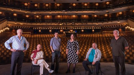 The Tower Theatre Company on stage at the barbican. Picture: Topher McGrilli