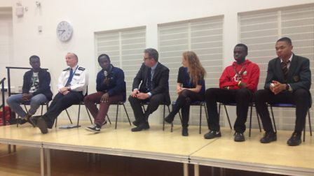 The question and answer panel at Tuesday's Islington's safer schools roadshow included police office