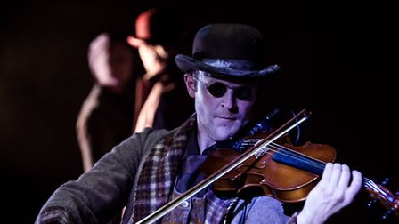 Alex Judd as the blind man in Blind Man's Song. Picture: Richard Davenport