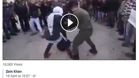 A screen grab of the clip uploaded on to Cllr Butt's page
