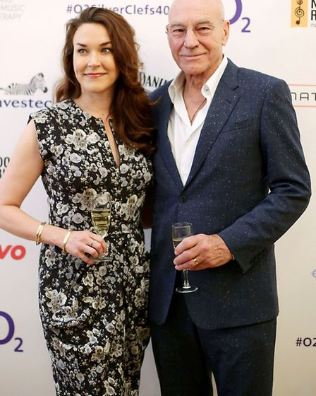 Sir Patrick Stewart and Sunny Ozell. Picture: PA