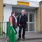 Patricia and Tom Brophy outside St. Joseph's Social Club (Pic: Jonathan Goldberg)