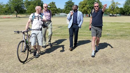 Tom Palin (current Chair of FofP), Cllr. Clive Carter, David Lammy MP, Jeremy Llewellyn Jones (Hackn