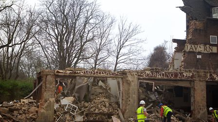 The pub was demolished with no warning last April
