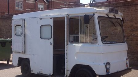 The new milk float, which Urban Wild Places hope to turn into a mobile potting shed and nature class