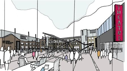 An artist's impression of the new courtyard (Picture: London Met University)