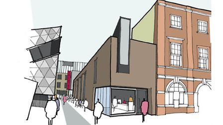 An artist's impression of the proposed new grad centre (Picture: London Met University)