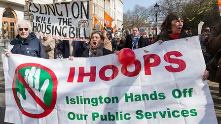 Islington Hands Off Our Public Services (IHOOPS) and Islington Kill the Housing Bill were part of th