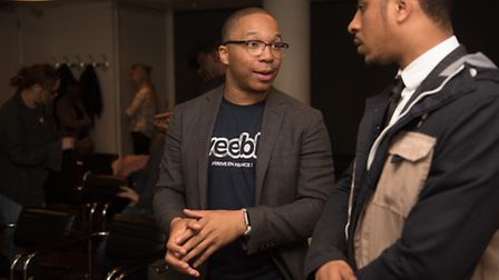 Weebly's Dion McKenzie at the Tech City networking event (Picture: Elyse Marks)