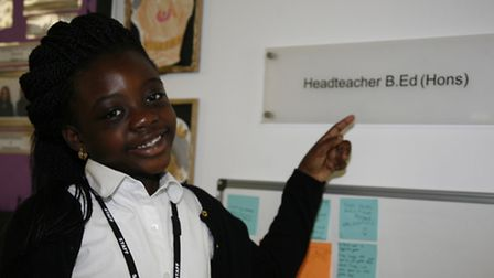 Grace Olayemi took over Nicola Percy as headteacher of New North Academy for the day on May 13 (Pict