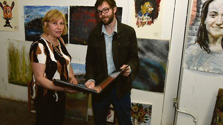 Jon Martyn and Tania Kaczinski have set up classes for refugees in Islington Arts Factory to promote