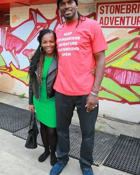 Lorraine King and Audley Harrison are both in the film