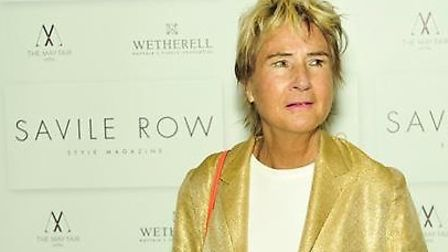 Marie Scott, 75, at an event for Savile Row magazine, which she owned