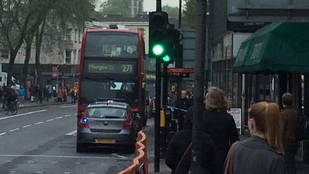 A suspect package on the 271 bus in Holloway Road caused the evacuation of Highbury & Islington stat