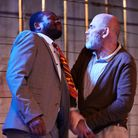 Stefan Adegbola and Peter Guinness in After Independence. Picture: Richard Lakos