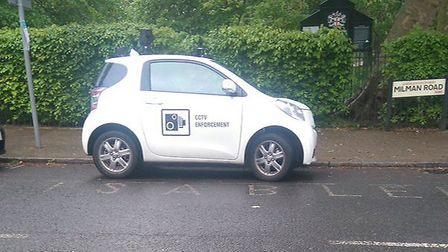 The CCTV car was parked in a disabled bay in Queen's Park (Pic: Twitter@RiseGuide )
