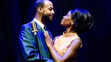 Nathan Ives Moiba as Marvin Gaye and Abiona Omonua as Tammi Terrell in Soul. Picture: Robert Day